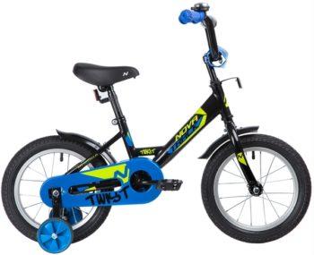 """139621 2 350x285 - Велосипед NOVATRACK TWIST, Детский, р. 9"""", колеса 14"""", цвет Черный, 2020г."""