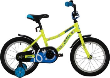 """139631 2 350x248 - Велосипед NOVATRACK NEPTUN, Детский, р. 9"""", колеса 14"""", цвет Зеленый, 2020г."""