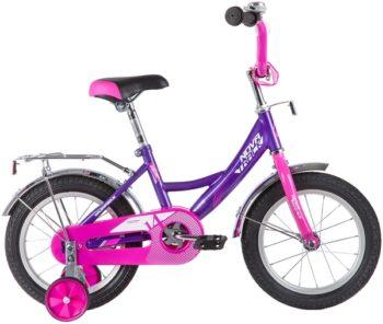 """139636 2 350x296 - Велосипед NOVATRACK VECTOR, Детский, р. 9"""", колеса 14"""", цвет Фиолетовый, 2020г."""