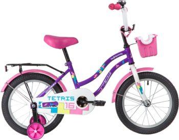 """139639 2 350x274 - Велосипед NOVATRACK TETRIS, Детский, р. 10,5"""", колеса 16"""", цвет Фиолетовый, 2020г."""