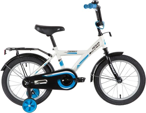 """139640 2 - Велосипед NOVATRACK FOREST, Детский, р. 10,5"""", колеса 16"""", цвет Белый, 2020г."""