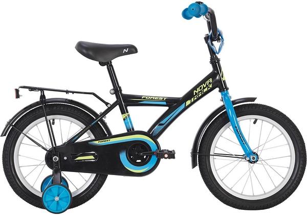 """139642 2 - Велосипед NOVATRACK FOREST, Детский, р. 10,5"""", колеса 16"""", цвет Черный, 2020г."""