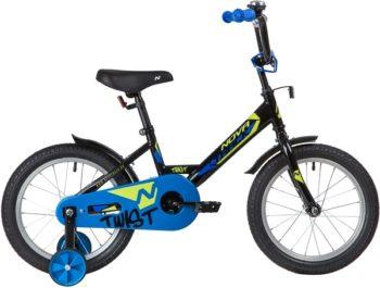 """139643 2 350x265 - Велосипед NOVATRACK TWIST, Детский, р. 10,5"""", колеса 16"""", цвет Черный, 2020г."""