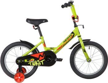 """139644 2 350x269 - Велосипед NOVATRACK TWIST, Детский, р. 10,5"""", колеса 16"""", цвет Зеленый, 2020г."""