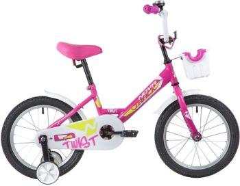 """139646 2 350x272 - Велосипед NOVATRACK TWIST, Детский, р. 10,5"""", колеса 16"""", цвет Розовый, 2020г."""