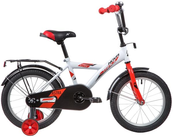 """139654 2 - Велосипед NOVATRACK ASTRA, Детский, р. 10,5"""", колеса 16"""", цвет Белый, 2020г."""