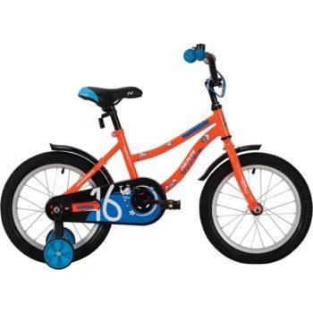 """139662 2 350x350 - Велосипед NOVATRACK NEPTUN, Детский, р. 10,5"""", колеса 16"""", цвет Оранжевый, 2020г."""