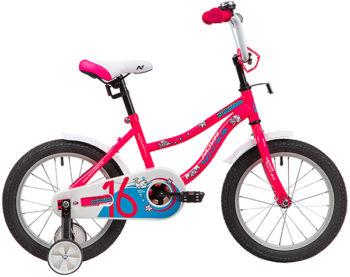 """139663 2 350x277 - Велосипед NOVATRACK NEPTUN, Детский, р. 10,5"""", колеса 16"""", цвет Розовый, 2020г."""