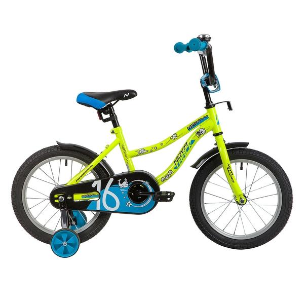 """139664 2 - Велосипед NOVATRACK NEPTUN, Детский, р. 10,5"""", колеса 16"""", цвет Зеленый, 2020г."""