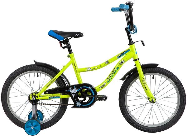 """139667 2 - Велосипед NOVATRACK NEPTUN, Детский, р. 11,5"""", колеса 18"""", цвет Зеленый, 2020г."""
