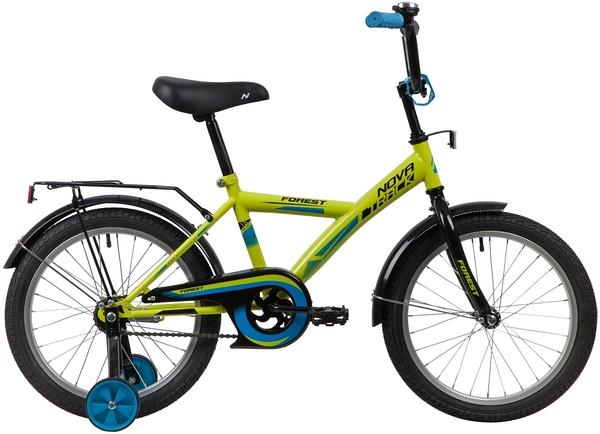 """139670 2 - Велосипед NOVATRACK FOREST, Детский, р. 11,5"""", колеса 18"""", цвет Зеленый, 2020г."""