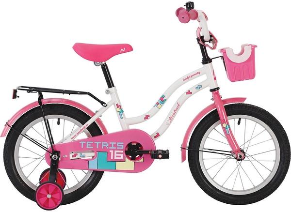 """139676 2 - Велосипед NOVATRACK TETRIS, Детский, р. 11,5"""", колеса 18"""", цвет Белый, 2020г."""