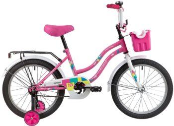 """139677 2 350x254 - Велосипед NOVATRACK TETRIS, Детский, р. 11,5"""", колеса 18"""", цвет Розовый, 2020г."""