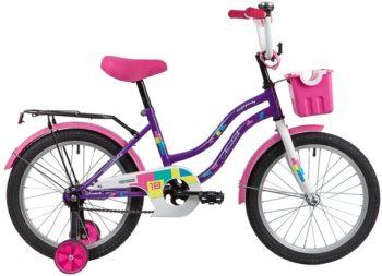 """139678 2 350x253 - Велосипед NOVATRACK TETRIS, Детский, р. 11,5"""", колеса 18"""", цвет Фиолетовый, 2020г."""