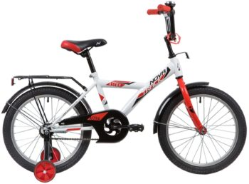 """139679 2 350x258 - Велосипед NOVATRACK ASTRA, Детский, р. 11,5"""", колеса 18"""", цвет Белый, 2020г."""