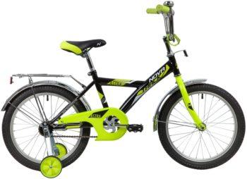 """139680 2 350x254 - Велосипед NOVATRACK ASTRA, Детский, р. 11,5"""", колеса 18"""", цвет Черный, 2020г."""