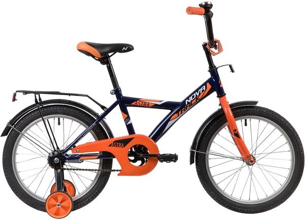 """139681 2 - Велосипед NOVATRACK ASTRA, Детский, р. 11,5"""", колеса 18"""", цвет Синий, 2020г."""