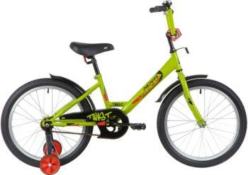 """139690 2 350x247 - Велосипед NOVATRACK TWIST, Детский, р. 12"""", колеса 20"""", цвет Зеленый, 2020г."""
