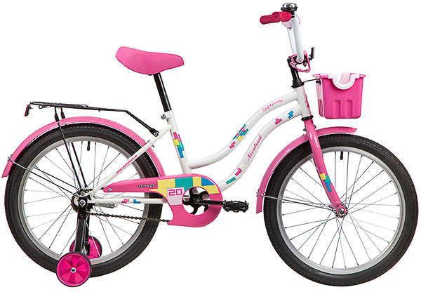 """139693 2 - Велосипед NOVATRACK TETRIS, Детский, р. 12"""", колеса 20"""", цвет Белый, 2020г."""