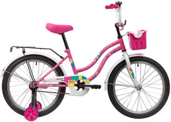"""139694 2 350x249 - Велосипед NOVATRACK TETRIS, Детский, р. 12"""", колеса 20"""", цвет Розовый, 2020г."""