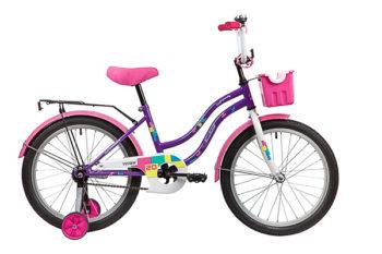 """139695 2 350x233 - Велосипед NOVATRACK TETRIS, Детский, р. 12"""", колеса 20"""", цвет Фиолетовый, 2020г."""