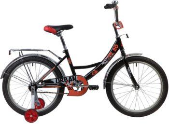 """139699 2 350x257 - Велосипед NOVATRACK URBAN, Детский, р. 12"""", колеса 20"""", цвет Черный, 2020г."""