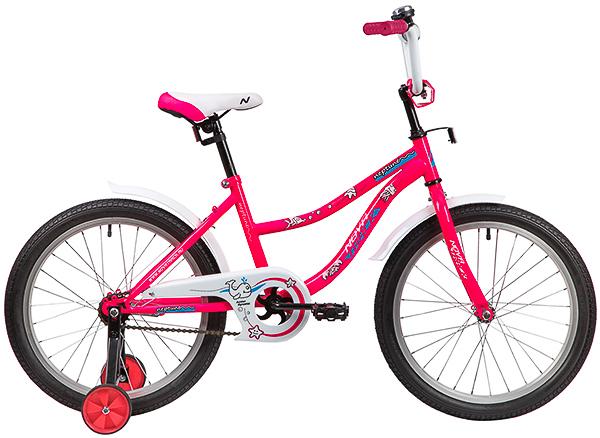 """139701 2 - Велосипед NOVATRACK NEPTUN, Детский, р. 12"""", колеса 20"""", цвет Розовый, 2020г."""