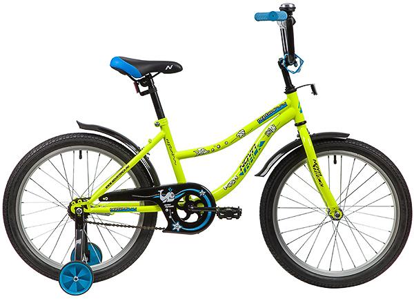 """139702 2 - Велосипед NOVATRACK NEPTUN, Детский, р. 12"""", колеса 20"""", цвет Зеленый, 2020г."""