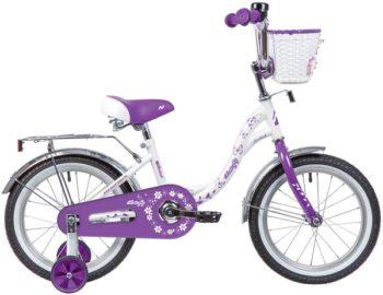 """139707 2 350x270 - Велосипед NOVATRACK BUTTERFLY, Детский, р. 9"""", колеса 14"""", цвет Фиолетовый, 2020г."""