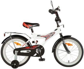 """139709 2 350x285 - Велосипед NOVATRACK TURBO, Детский, р. 10,5"""", колеса 16"""", цвет Белый, 2020г."""