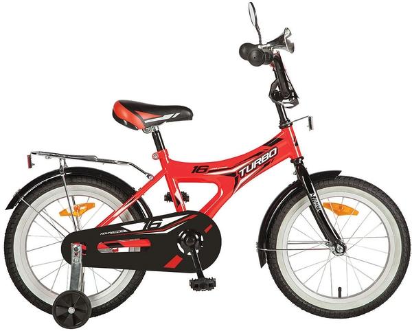 """139710 2 - Велосипед NOVATRACK TURBO, Детский, р. 10,5"""", колеса 16"""", цвет Красный, 2020г."""
