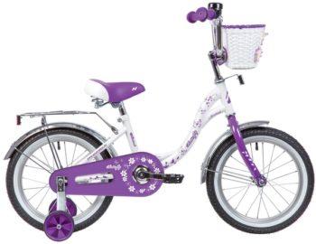 """139711 2 350x270 - Велосипед NOVATRACK BUTTERFLY, Детский, р. 10,5"""", колеса 16"""", цвет Фиолетовый, 2020г."""