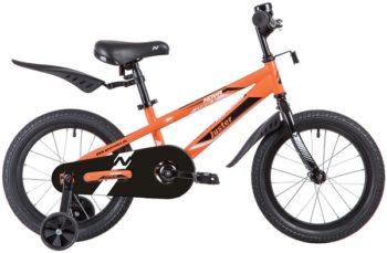 """139713 2 350x229 - Велосипед NOVATRACK JUSTER, Детский, р. 10,5"""", колеса 16"""", цвет Оранжевый, 2020г."""