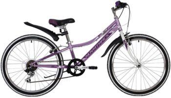 """139715 2 350x202 - Велосипед NOVATRACK ALICE, Скоростной, р. 10"""", колеса 24"""", цвет Лиловый, 2020г."""