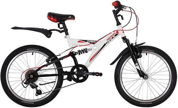 """139723 2 - Велосипед NOVATRACK DART, Скоростной, р. 13"""", колеса 20"""", цвет Черный, 2020г."""