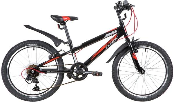 """139724 2 - Велосипед NOVATRACK RACER, Скоростной, р. 12"""", колеса 20"""", цвет Черный, 2020г."""