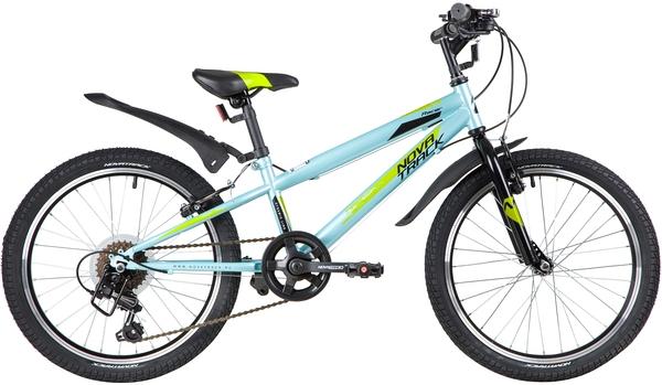 """139725 2 - Велосипед NOVATRACK RACER, Скоростной, р. 12"""", колеса 20"""", цвет Синий, 2020г."""