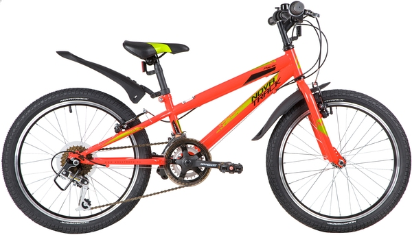 """139727 2 - Велосипед NOVATRACK RACER, Скоростной, р. 12"""", колеса 20"""", цвет Красный, 2020г."""