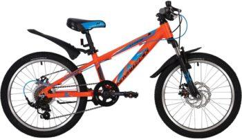 """139732 2 350x201 - Велосипед NOVATRACK EXTREME, Скоростной, р. 10"""", колеса 20"""", цвет Оранжевый, 2020г."""