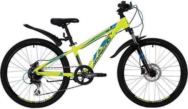 """139734 2 - Велосипед NOVATRACK EXTREME, Скоростной, р. 11"""", колеса 24"""", цвет Зеленый, 2020г."""