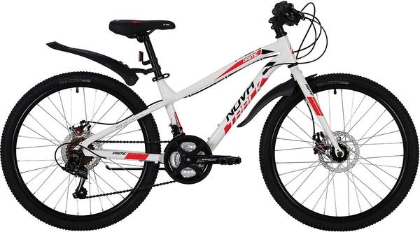 """139755 2 - Велосипед NOVATRACK PRIME, Скоростной, р. 13"""", колеса 24"""", цвет Белый, 2020г."""