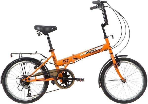 """139792 2 - Велосипед NOVATRACK TG306, Складной, р. 14"""", колеса 20"""", цвет Оранжевый, 2020г."""