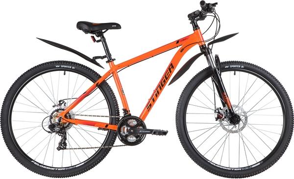 """139797 2 - Велосипед Stinger ELEMENT EVO, р.18, цвет Оранжевый, 2020г., колеса 29"""""""