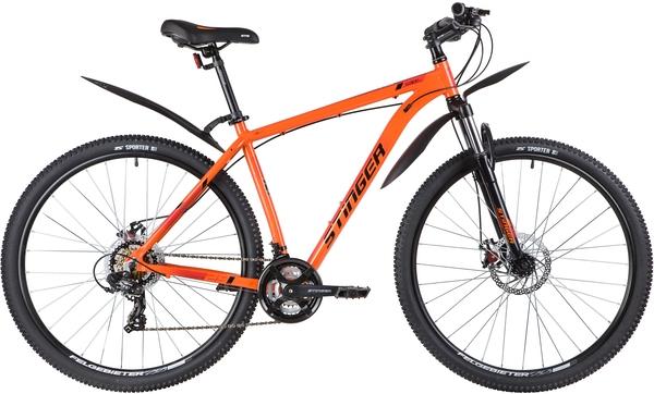 """139798 2 - Велосипед Stinger ELEMENT EVO, р.20, цвет Оранжевый, 2020г., колеса 29"""""""