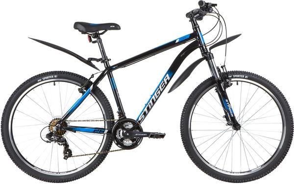 """139802 2 - Велосипед Stinger ELEMENT STD, р.18, цвет чёрный, 2020г., колеса 26"""""""