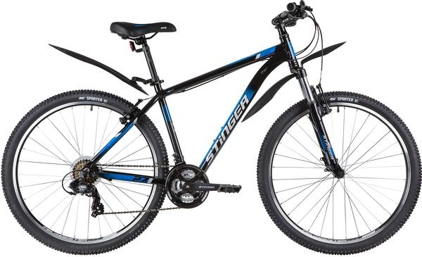 """139804 2 - Велосипед Stinger ELEMENT STD, р.18, цвет чёрный, 2020г., колеса 27"""""""