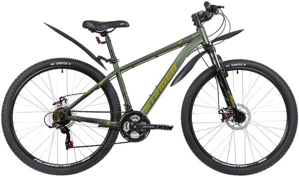 """139814 2 - Велосипед Stinger CAIMAN D, р.16, цвет Зеленый, 2020г., колеса 27"""""""