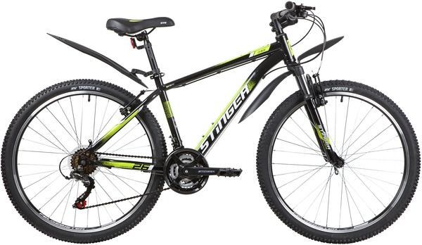 """139817 2 - Велосипед Stinger CAIMAN, р.16, цвет чёрный, 2020г., колеса 26"""""""