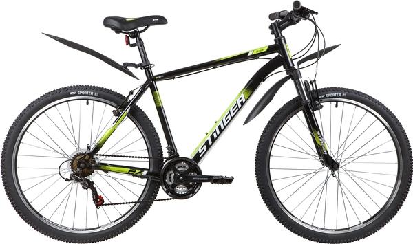 """139819 2 - Велосипед Stinger CAIMAN, р.20, цвет чёрный, 2020г., колеса 27"""""""