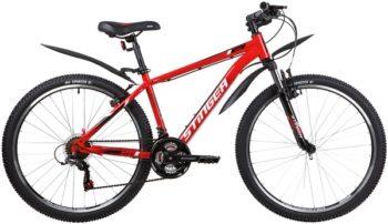 """139820 2 350x202 - Велосипед Stinger CAIMAN, р.16, цвет Красный, 2020г., колеса 26"""""""